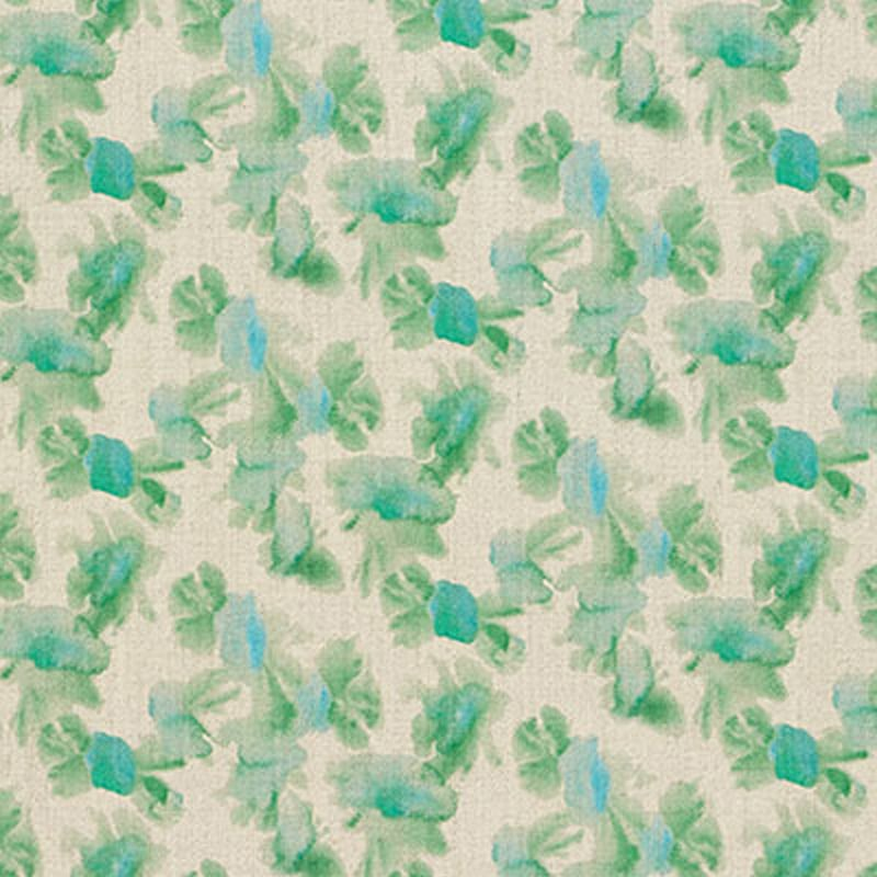 Milton and Manor Sweet Floral Green Fabric