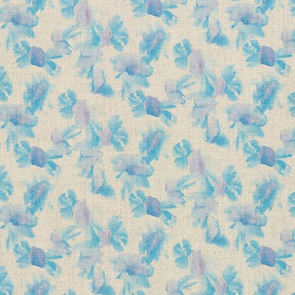 Milton and Manor Sweet Floral Blue Fabric