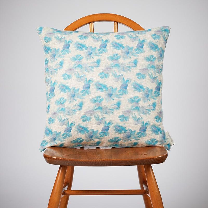 Milton and Manor Hazy Blooms Blue Medium Cushion