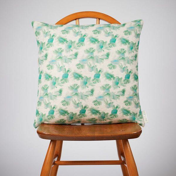 Milton and Manor Hazy Blooms Green Medium Cushion