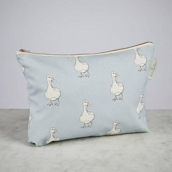 Milton & Manor Blue Duck Cosmetic Bag