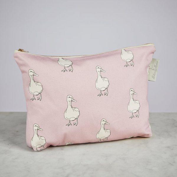 Milton & Manor Pink Duck Cosmetic Bag